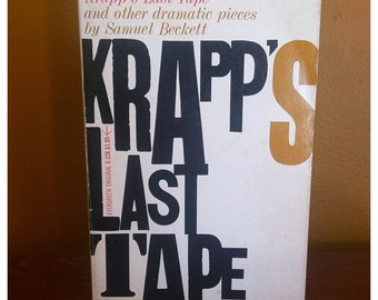 Krapp's Last Tape by Samuel Beckett (paperback, 1958)