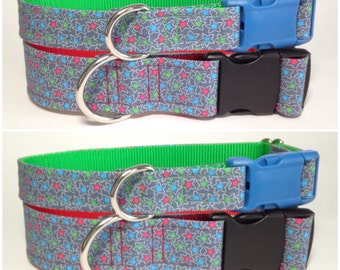 Mini stars dog collar