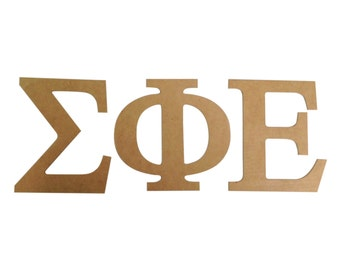 sigma phi epsilon sigep 75 unfinished wood letter set
