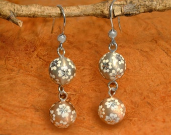Dangle Earrings - 100% Sterling Silver- Gift Idea, Gift for Her,Holiday Gift, Anniversary, Earrings - Free Shipping!!!!