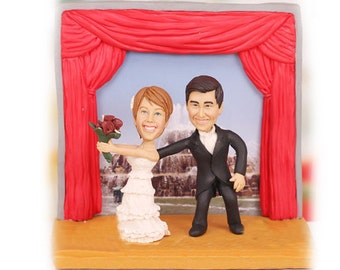 Personalised wedding cake topper - Producer and Actor Theatre Theme Wedding Cake Toppers (Free shipping)