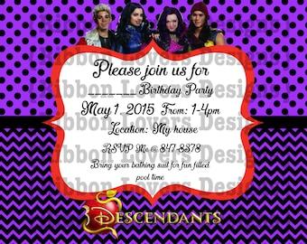 Descendants Birthday Invitation