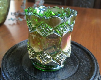 Green Toothpick With Gilt