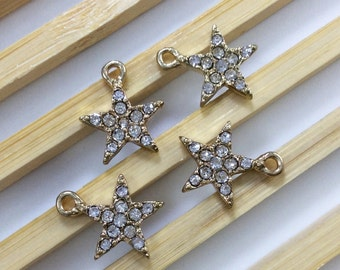 10 pcs    Rhinestone  Star   Charms   Star Pendant Star Jewelry