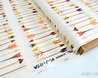 "Arrow Fabric ""Fletching Chant"" from Wild & Free by Maureen Cracknell - Art Gallery Fabrics. 100% premium cotton. WFR-147"