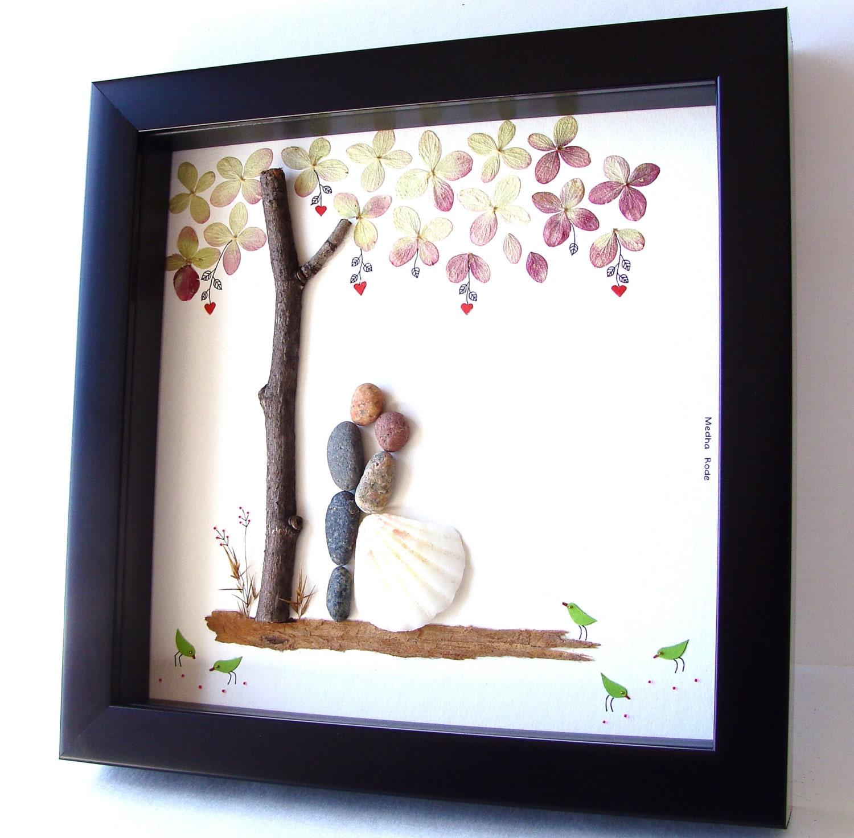 Wedding Gifts For Honeymoon: Unique Wedding Gift For Couple Wedding Pebble Art By MedhaRode