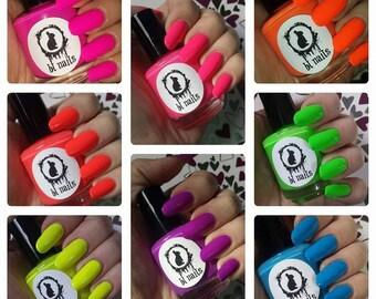 Neons Nail Polish Full Size 15mL 8 colors