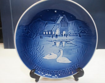 """1974 Bing & Grondahl B G Christmas Plate - """"Christmas In The Village"""" Danish Collectible Plate"""