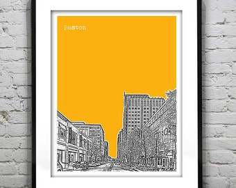 Reston Virginia Poster Skyline Art Print VA Version 1