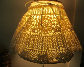 Vintage Crochet Lace Lamp Shade