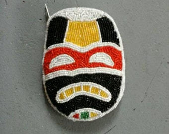 Beaded Lucha Libre Coin Purse