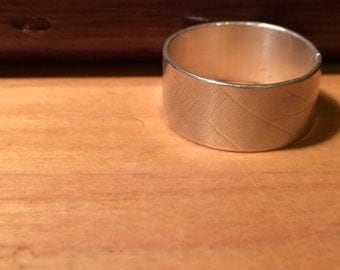 Leaf Vein Ring: Wide Band (made to order)