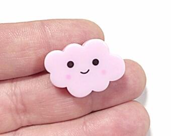 Pink kawaii cloud ring