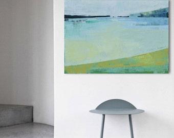 """Abstract painting """"Landscape 45"""". 100/70cm Oil painting on cotton canvas. Unique impasto texture. 100/70 cm"""