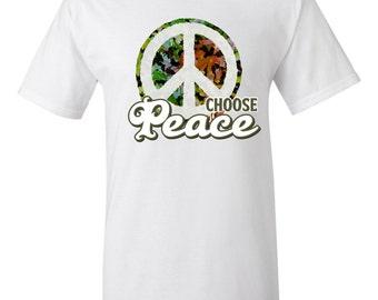 "Camouflage ""Choose Peace"" Tshirt"