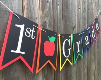 Classroom Banner - Select a grade - Teacher Sign, Classroom decor, Class Banner, Subject Pennant, Class decoration, Teacher gift, School