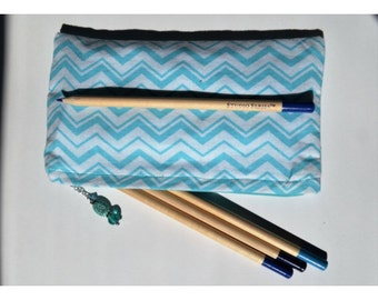 Pencil pouch, planner accessories, zipper bag