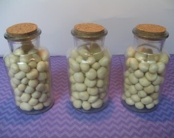 10 280ml glass bottles with corks favor jars wedding favor jars decorative jars