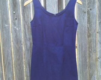 Royal Blue 90s Bodycon Dress S