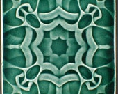 "Wall tile, Arts and Crafts tile, 6"" x 6"", Bas-relief tile, Gift tile, Accent tile, Art tile, Decorative tile, kitchen tile"