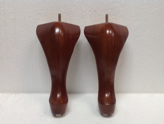 Queen anne furniture wood legs feet wood sofa couch for 70s wooden couch