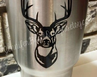 Yeti Deer Decal - 45 Colors - Choose Your Color - Ships Free with another Item - Perfect for Car, Cooler, Laptop, and MacBook too!