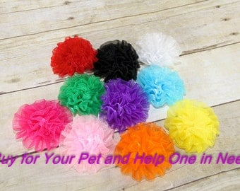 Small, Dog Collar Flower, Collar Attachment, Wedding Flower, Flower for Collar, Dog Accessory, Pet Harness Flower, Focus for a Cause