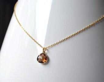 Topaze pendant necklace