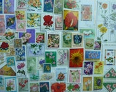 Flowers -  Postage Stamps with Flowers for Collecting, Art Projects,  Decoupage, Paper Crafts, Collage and More...