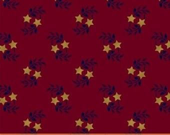 Windham Freedom Bound Star Leaf Red Cream Navy Civil War 41974-2 Fabric BTY