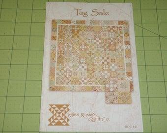 Miss Rosie's Tag Sale RQC 41 Fat Quarter Friendly Quilt Pattern