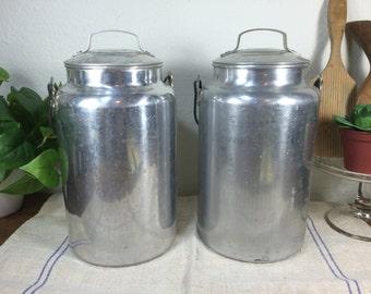 Aluminum Cream Can *FREE SHIPPING* Milk Can - Milk Pail - Cream Pail - Farmhouse Cream Can