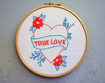 "Embroidery Kit ""True Love"""