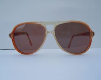 Vintage Two-tone Aviator Diplomat Sunglasses