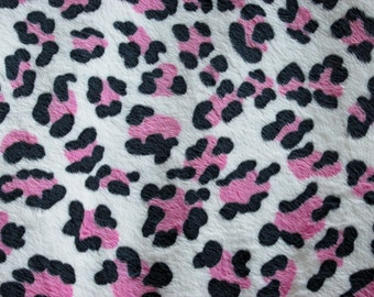 Pink Black & White Cheetah Print Minky Blanket - Leopard Print - Baby Toddler Adult Sizes - Baby Pink OR White Crushed Minky Backing