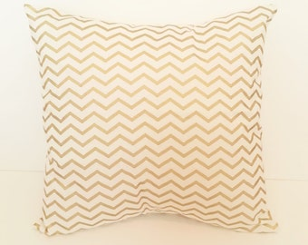 Decorative Pillow Cover, Gold Chevron Pillow Covers