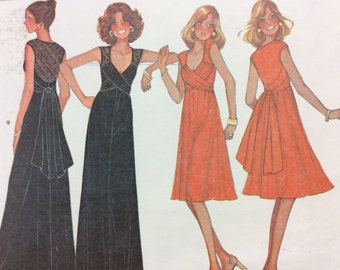 1970's Dress, Gown, Maxi - Vintage McCall's Sewing Pattern 5372 **UNCUT/Size 10