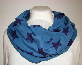infinity scarf cotton with stars