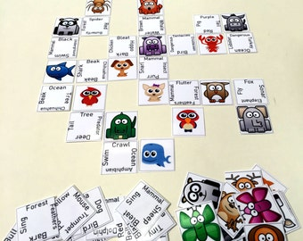 """Educational """"Fun with Animals"""" Connections Card Game (120 Cards) Conceptual Printable Digital Download"""