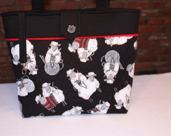 Custom Knitting Tote Bag