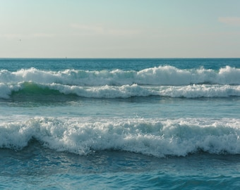 Waves in the Pacific Ocean, in Imperial Beach, California. | Photo Print, Stretched Canvas, or Metal Print.