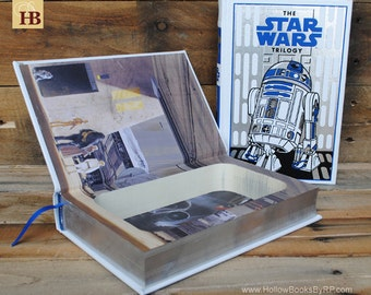 Hollow Book Safe - The Star Wars Trilogy - R2D2 Leather Bound