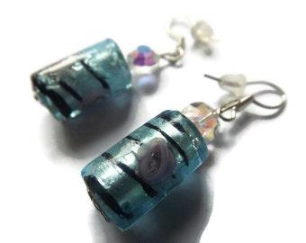 Blue Glass Earrings