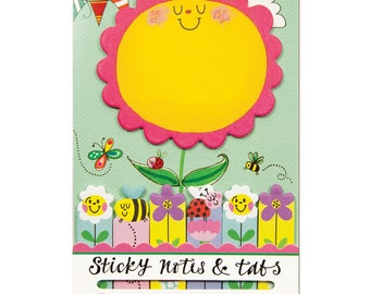 Flowers and Bugs Sticky Notes & Tabs