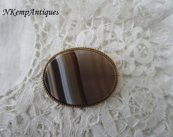 Antique agate brooch 1900