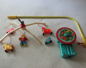 Vintage Fisher Price Music Box Mobile #174 Brahms' Lullaby