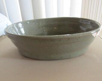 Vintage Stoneware Oval Bowl
