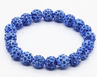 Shambhala Bracelet (20 balls) light blue