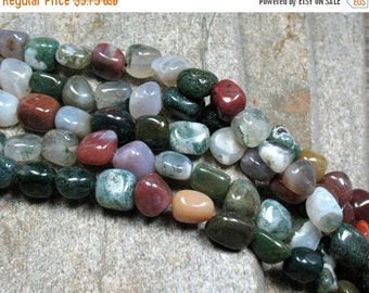 "SALE Fancy Jasper & Agate Nugget Beads, 15.5"" strand - Item B0471"