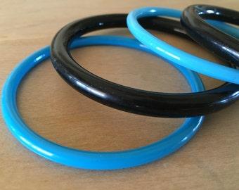 Black and Blue Acrylic Bracelets